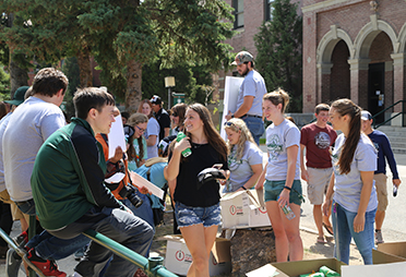 student orientation at Montana Tech, Butte